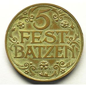 5 FEST-BATZEN  1927   Cu,R,   26,5 mm   SUP