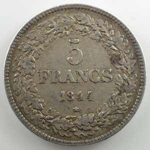5 Francs   1844 position A    TTB