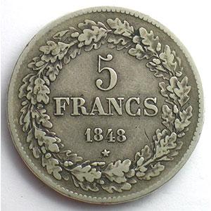 5 Francs   1848    TB+/TTB
