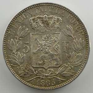 5 Francs   1865 A    TTB+/SUP