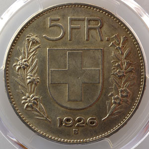 5 Francs   1926 B    PCGS-MS62    SUP/FDC