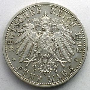 5 Mark   1902   Jubilé de règne/Regierungsjubiläum    TTB+
