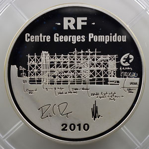 50 €   Centre Georges Pompidou   2009   163.8 g argent 950 mill.    BE