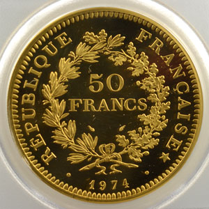 50 Francs   1974 or    PCGS-SP67    FDC