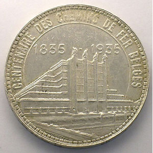 50 Francs   Exposition de Bruxelles   1935    TTB