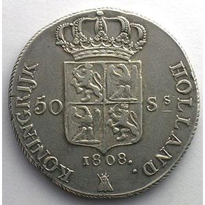 50 Stuivers   1808  Utrecht    TTB/TTB+