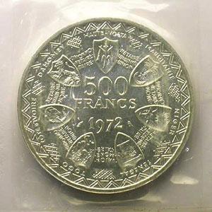 500 Francs   1972 Essai    FDC