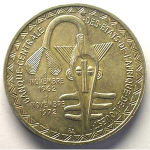 500 Francs   1972    SUP