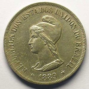 500 Reis   1889    TB+/TTB