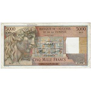 5000 Francs   22-1-1952    TTB+