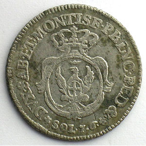7,6 Soldi   Charles-Emanuele III (1730-1773)   1756    TB+/TTB