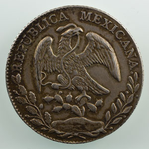 8 Réales   1874   Mo (Mexico)  BH    TTB+