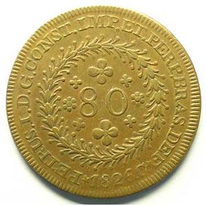 80 Reis   1826 C (Cuiaba)    TTB+