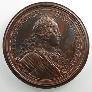 Ferdinand de SAINT-URBAIN   Reconstruction des Ponts   1727   bronze   64mm    TTB+