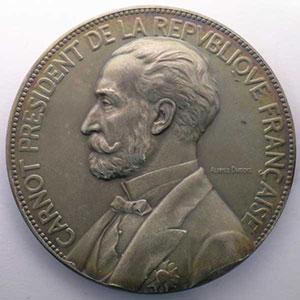 Alphée DUBOIS   Carnot élu par l'Assemblée Nationale le 03.12.1887   argent   69mm    SUP/FDC