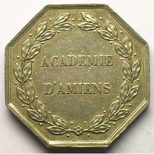 Amiens   jeton octogonal en argent   Louis-Philippe I    TTB/TTB+<br>eton octogonal en argent
