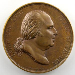 ANDRIEU   Bronze   50mm   1816   Restauration des quatre Académies    SUP/FDC