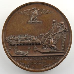 ANDRIEU/DENON   Souverainetés données   1806   bronze   41 mm    SUP