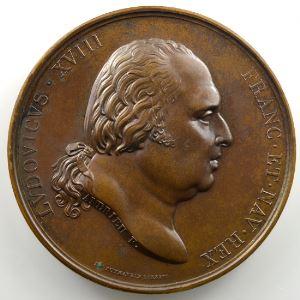 Andrieu/Galle   Bronze   50mm   1821   Baptème du Duc de Bordeaux le 2 mai 1821    SUP