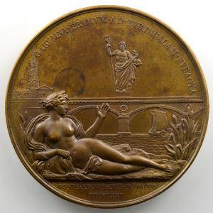 Andrieu/Gatteaux   Bronze   50.5mm   1821   Pont à 17 arches de la Garonne à Bordeaux    FDC