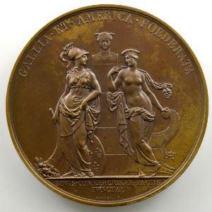 Andrieu/Gayrard   Bronze   50.5mm   1822   Traité de Commerce avec l'Amérique    SUP/FDC