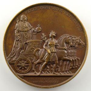 Andrieu/Gayrard   Bronze   51mm   1815   Seconde entrée du Roi Louis XVIII à Paris   8 juillet 1815    SUP/FDC