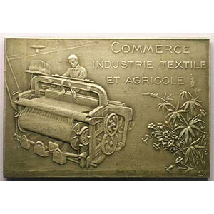 Armentières-Hazebrouck   plaque d'argent   55x38mm   poinçon corne 1argent    TTB+