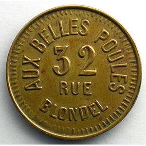 Aux Belles Poules   Lt fourré, R 22 mm    TTB+