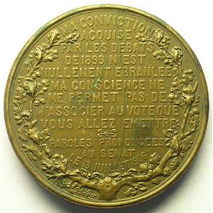 BAFFIER   Au Général Mercier   1906   bronze   50mm    TTB+