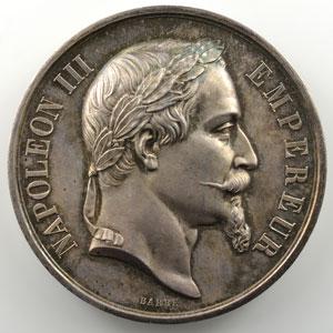 Barre   Médaille en argent  51mm   Napoléon III   Corps législatif, session de 1868    FDC