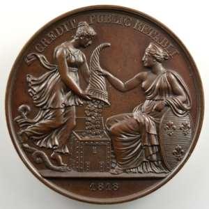 Barre   Médaille en bronze  41mm   1818    SUP/FDC