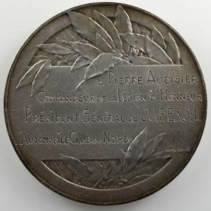 Bénard Raoul   Médaille en argent  50mm   Automobile Club du Nord de la France    SUP