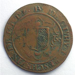 Bernard de Pellart, seigneur de Givry   (1667-1678)   1669   cuivre    TB+