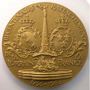 Bicentenaire du Rattachement de la Lorraine à la France   1766-1966    FDC