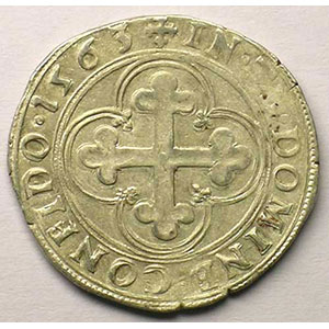 Blanc de 4 Soldi   Emmanuel Philibert  (1559-1580)   1563 T  (Turin)    TTB