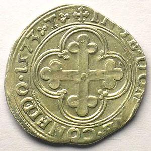 Blanc de 4 Soldi   Emmanuel Philibert  (1559-1580)   1573 T  (Turin)    TTB