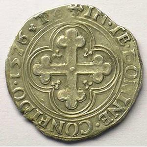 Blanc de 4 Soldi   Emmanuel Philibert  (1559-1580)   1576 T  (Turin)    TTB