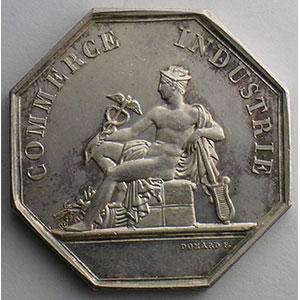 Bordeaux   jeton octogonal en argent   1834    SUP