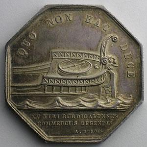 Bordeaux   jeton octogonal en argent    SUP