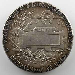 BOTTEE L.   Médaille en bronze argenté  49mm   Encouragement à l'industrie chevaline, département du Nord    SUP