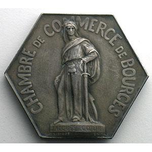 Bourges   Jeton hexagonal en argent    SUP