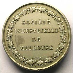 BOVY/CAQUE   Société Industrielle de Mulhouse   argent   poinçon corne (1880-  )   41mm    SUP