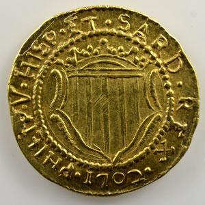 Cagliari   Scudo d'or   (Philippe V   1700-1719)   1702    SUP