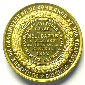 CAQUE   Laval 1862 - 34mm    FDC