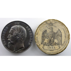 Caqué   Médaille en étain 50mm   Napoléon III   Palais de l'Industrie    FDC