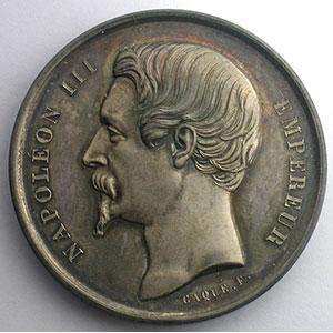 CAQUE   Orléans 1861  argent  41mm    SUP/FDC