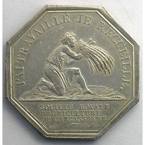 Carcassonne   jeton octogonal en argent   Louis-Philippe I    SUP
