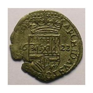 Carolus de billon au Lion   (Philippe IV  1621-1665)   1622  Dôle    TB+