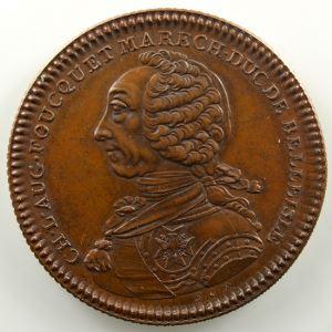 Ch. L. Aug. FOUQUET, Maréchal, Duc de Belle-isle   1760 cuivre    SUP/FDC