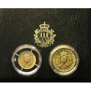 Coffret de 2 pièces   1 et 2 Scudi   1990    FDC